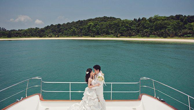 Yacht Wedding Singapore   Singapore Yacht Charter