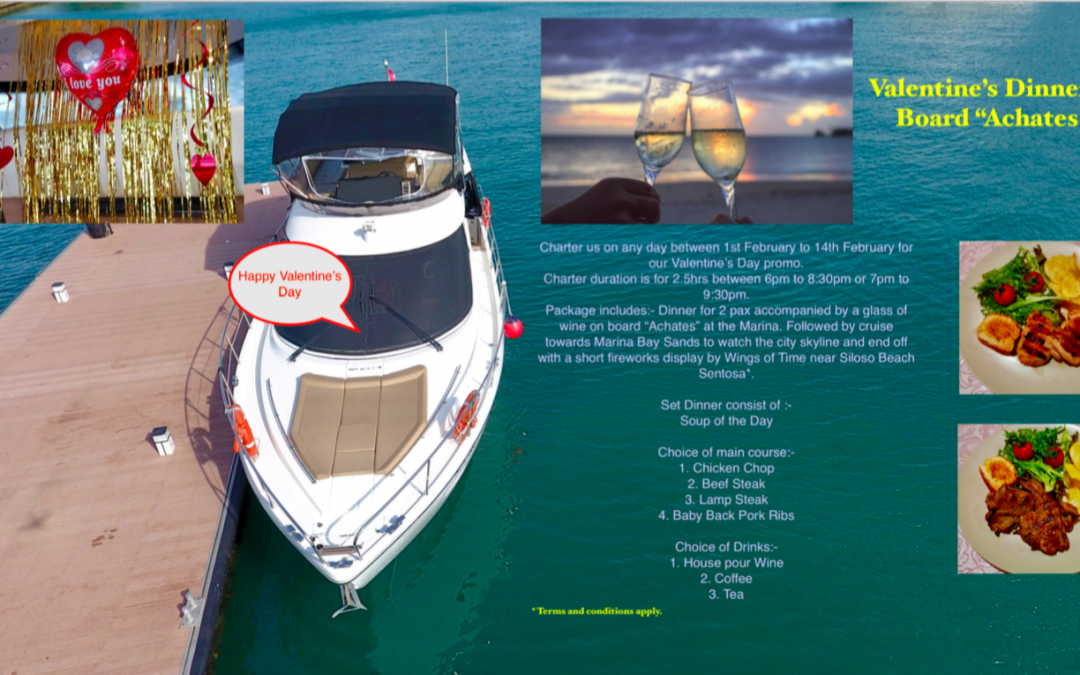 2018 Valentine's Day Yacht Dining Package with Achates