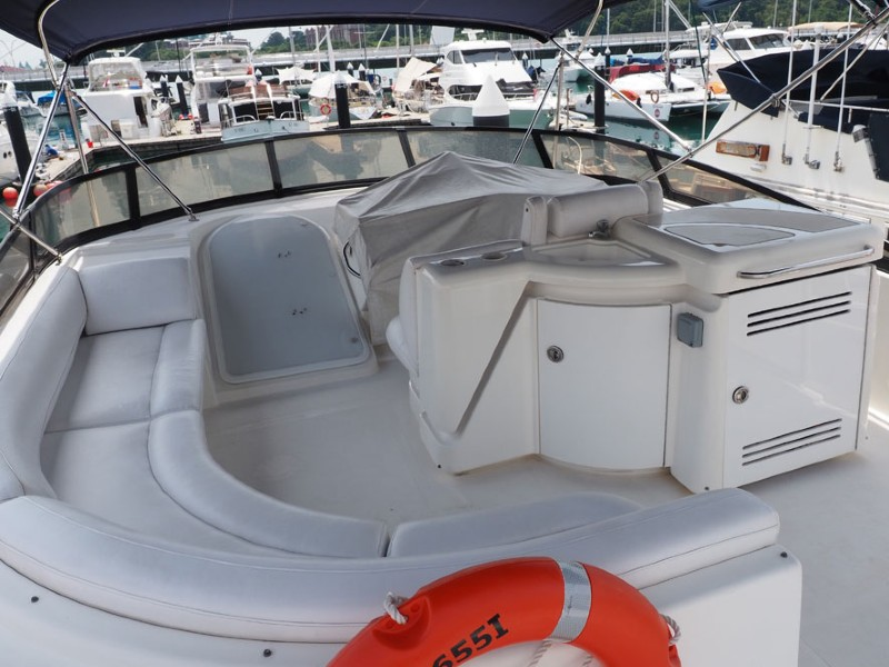 Party Boat 1 Flybridge | Private Boat Charter | Singapore Yacht Charter