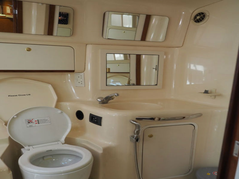 Party Boat 2 Washroom | Yacht Party | Singapore Yacht Charter