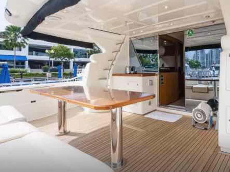 Rulin Yacht Aft Deck   Singapore Yacht Charter