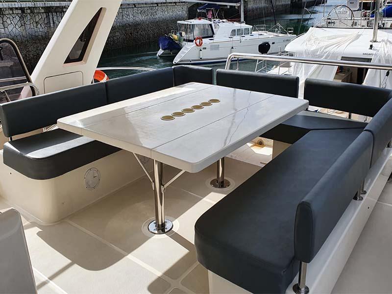 Amethyst 1 Yacht Flybridge Deck | Singapore Yacht Charter