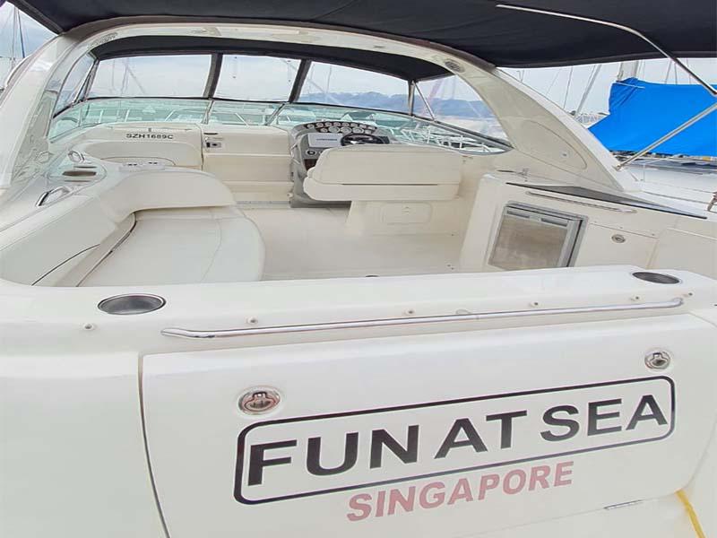 Fun At Sea Yacht Stern   Bayliner 350   Singapore Yacht Charter