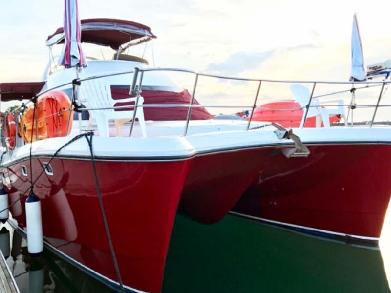 La Fortuna yacht | RSYC | Cruise to Pulau Hantu | Singapore Yacht Charter