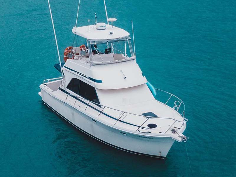 Sea Friends Yacht Charter | Riviera 3300 Flybridge Cruiser | Singapore Yacht Charter