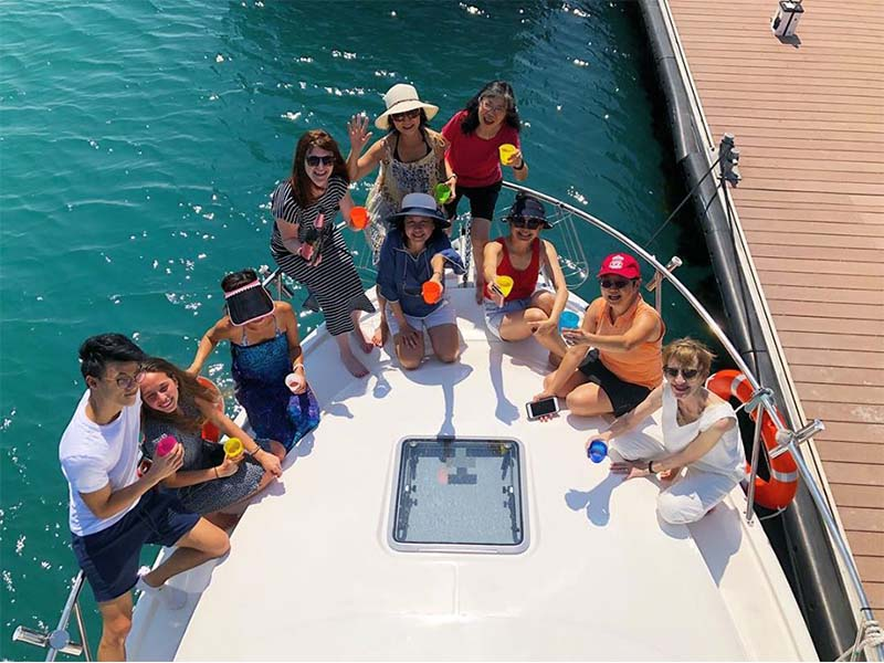 Pioneer Ocean Blue Bow | Fishing Boat Rental | Singapore Yacht Charter