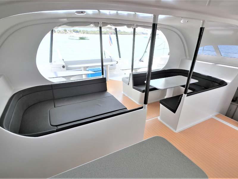 Mustang Yacht Open-Concept Saloon | Maserati Power Catamaran | Singapore Yacht Charter