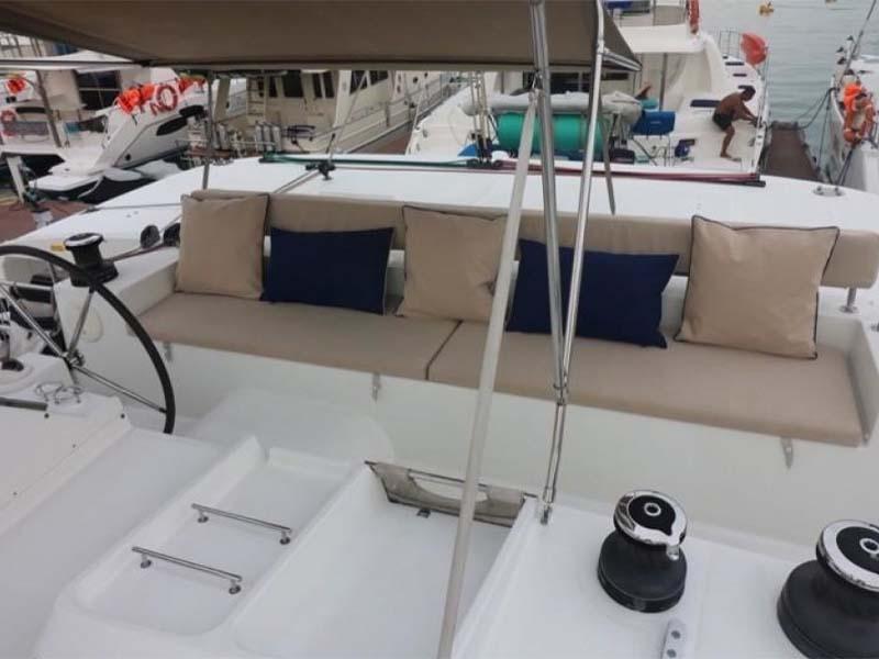 Waga Mari Yacht Flybridge   Lagoon 450 Sailing Catamaran   Singapore Yacht Charter