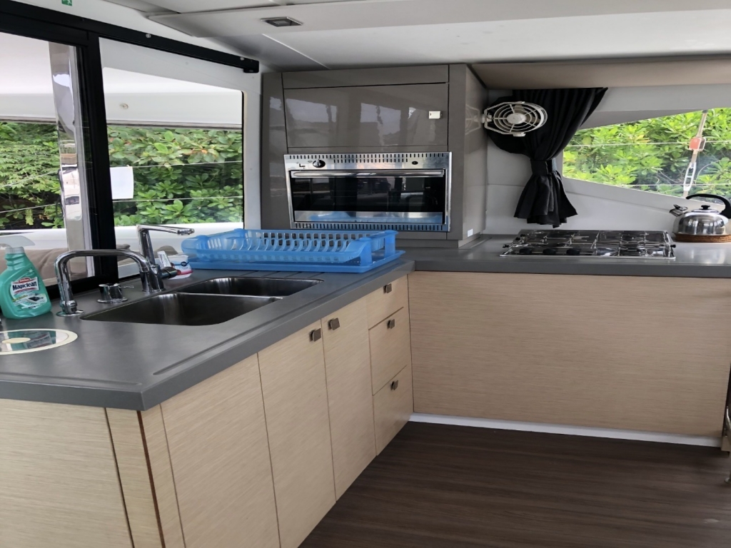 Aquaholic Yacht Galley | Fountaine Pajot Lucia 40 | Singapore Yacht Charter