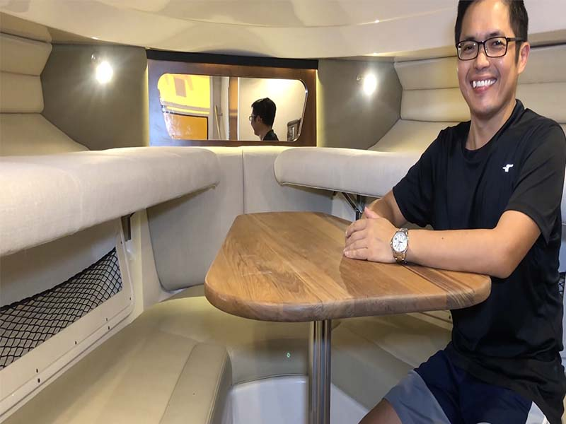 Pioneer Ocean Blue Cabin | Fishing Boat Rental | Singapore Yacht Charter