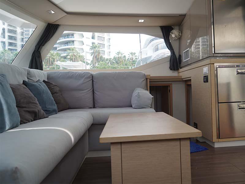 Aquaholic Yacht Saloon 2 | Fountaine Pajot Lucia 40 | Singapore Yacht Charter