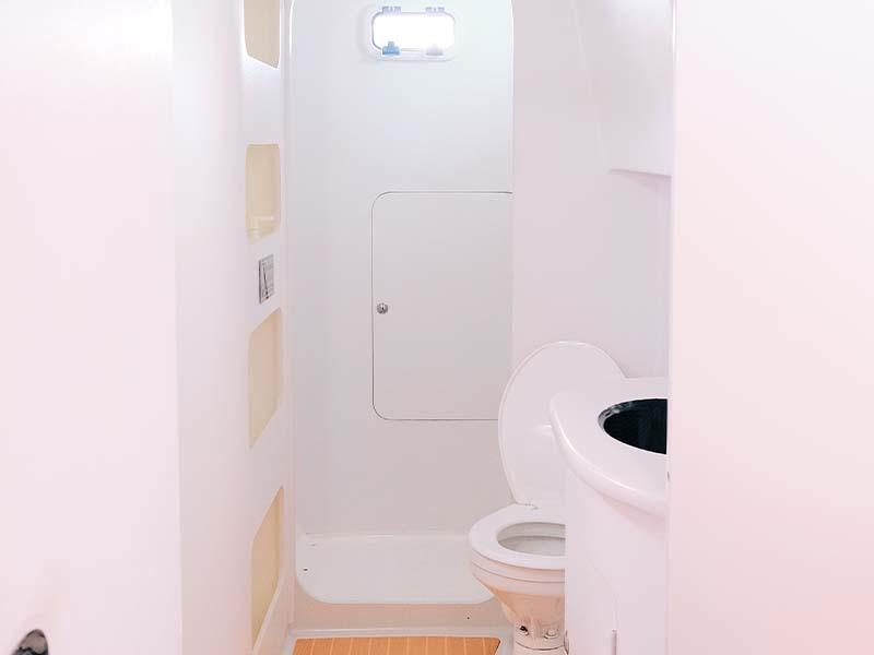 Mustang Yacht Bathroom | Maserati Power Catamaran | Singapore Yacht Charter