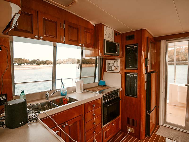 Veyron Yacht Galley | Luxury Trawler | Singapore Yacht Charter