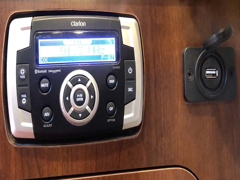 Pioneer Ocean Blue Hifi Audio System with USB | Fishing Boat Rental | Singapore Yacht Charter