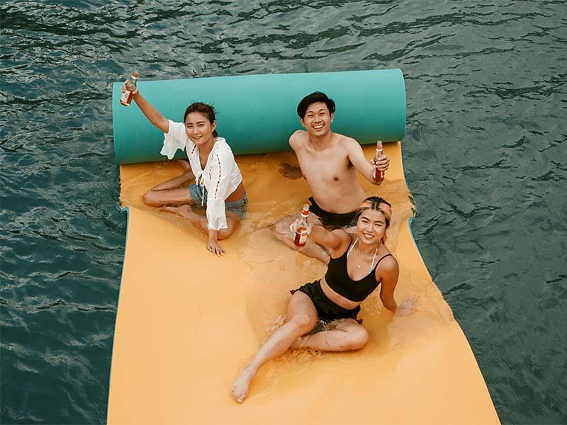 Veyron Yacht Floating Mat | Luxury Trawler | Singapore Yacht Charter