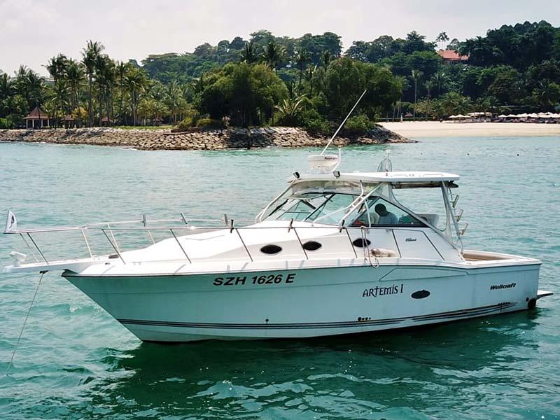 Artemis Fishing Boat | 34ft Wellcraft | Singapore Yacht Charter