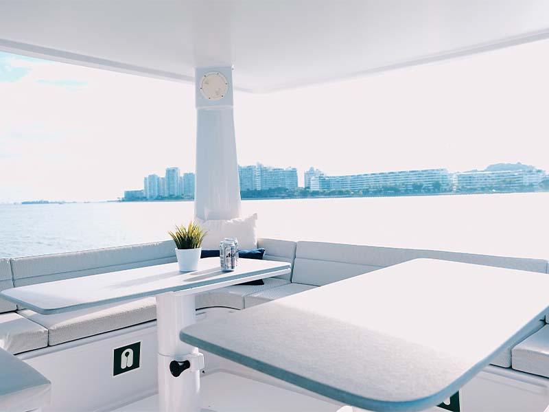 Mustang Yacht Flybridge | Maserati Power Catamaran | Singapore Yacht Charter