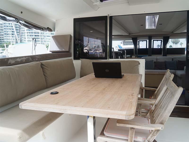 Aquaholic Yacht Aft Deck | Fountaine Pajot Lucia 40 | Singapore Yacht Charter