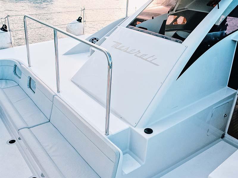 Mustang Yacht Bow Lounge | Maserati Power Catamaran | Singapore Yacht Charter
