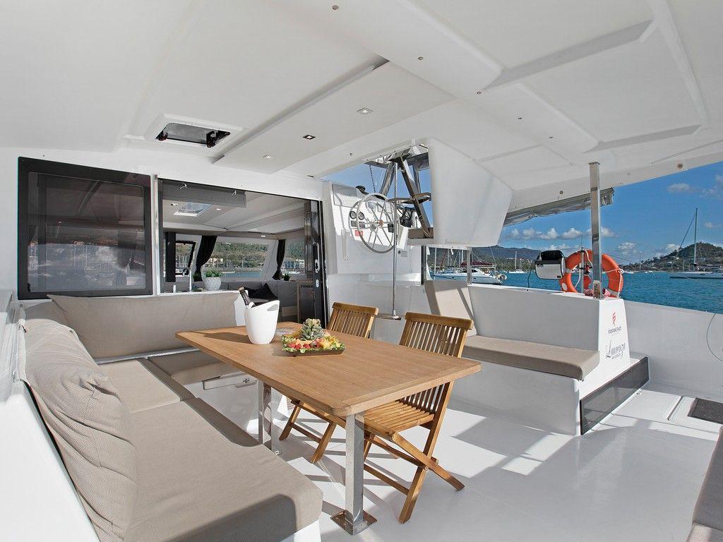 Aquaholic Yacht Aft Deck 1 | Fountaine Pajot Lucia 40 | Singapore Yacht Charter