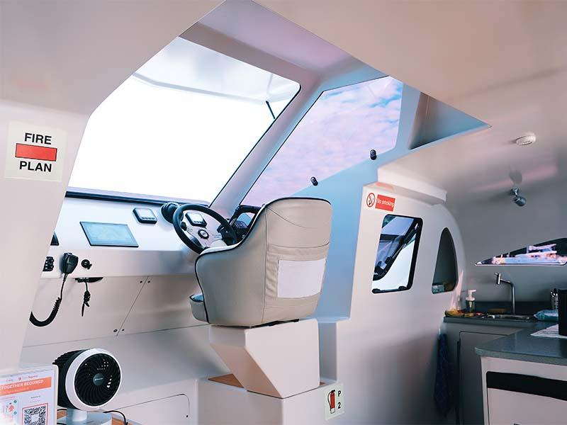 Mustang Yacht Helm | Maserati Power Catamaran | Singapore Yacht Charter