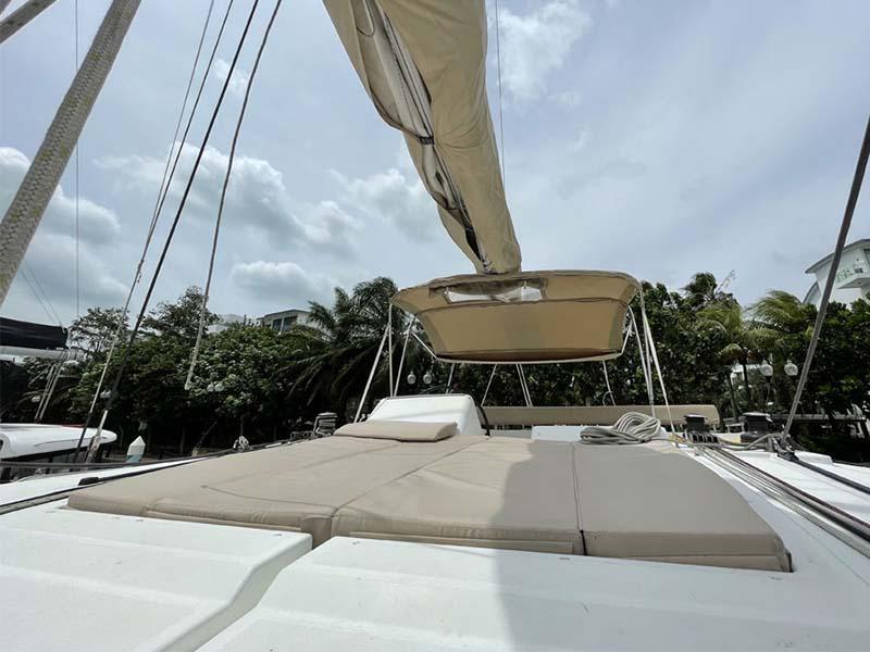 Waga Mari Yacht Sun Deck with Flybridge   Lagoon 450 Sailing Catamaran   Singapore Yacht Charter