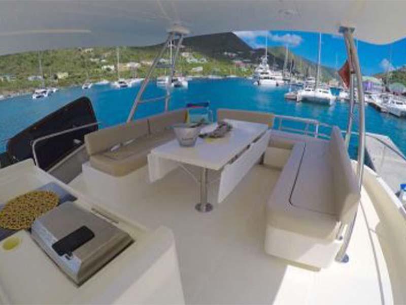 Synergy 1 Yacht Flybridge 1   Aquila 48 Catamaran   Singapore Yacht Charter
