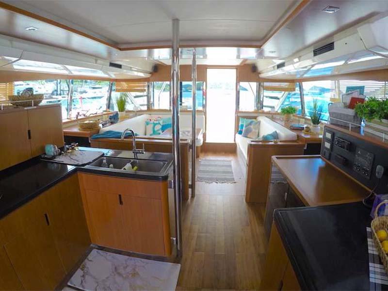 Synergy 1 Yacht Saloon   Aquila 48 Catamaran   Singapore Yacht Charter