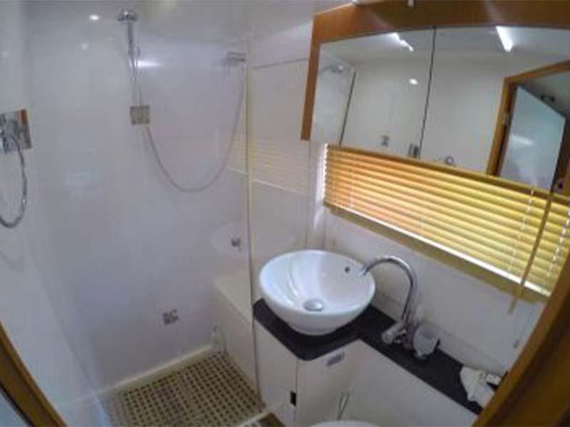Synergy 1 Yacht Bathroom   Aquila 48 Catamaran   Singapore Yacht Charter