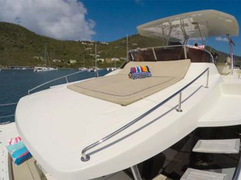 Synergy 1 Yacht Sun Bath   Aquila 48 Catamaran   Singapore Yacht Charter